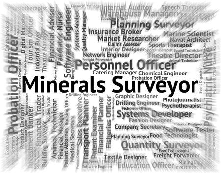 topografo: Minerales Agrimensor En representación de contratación Agrimensores y el empleo
