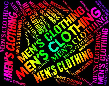 men's clothing: Mens Clothing Meaning Word Text And Outfit