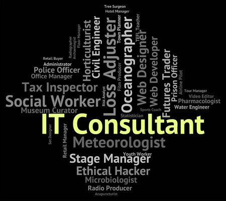 information technology: Information Technology Representing It Consultant And Communication