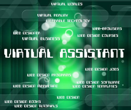 virtual assistant: Virtual Assistant Showing Out Sourcing And Deputy