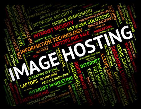 webhosting: Image Hosting Indicating Snapshots Photos And Webhosting