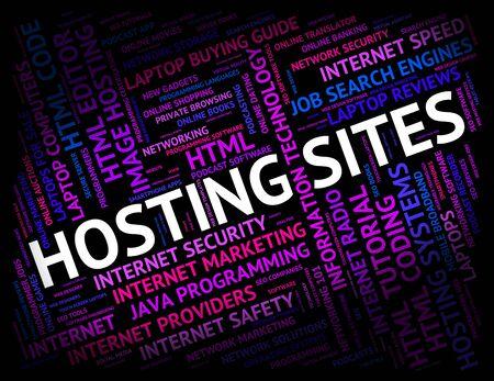 webhost: Hosting Sites Representing Online Webhosting And Computer
