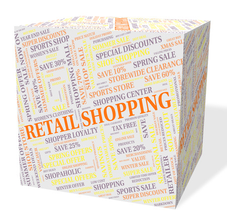 merchandiser: Retail Shopping Meaning Commercial Activity And Merchandiser