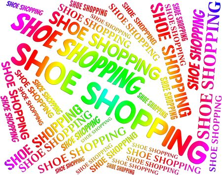 commercial activity: Shoe Shopping Representing Retail Sales And Consumerism