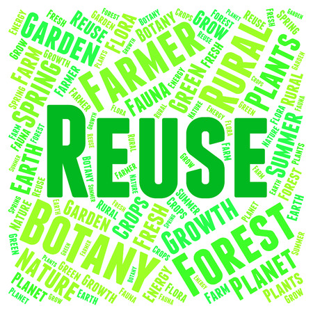 recycles: Reuse Word Indicating Go Green And Recycling