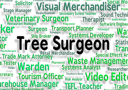 general practitioner: Tree Surgeon Indicating General Practitioner And Jobs