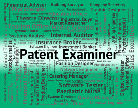 examiner: Patent Examiner Representing Performing Right And Inspector Stock Photo