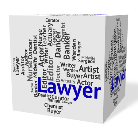 counsel: Lawyer Job Representing Legal Adviser And Counsel Stock Photo
