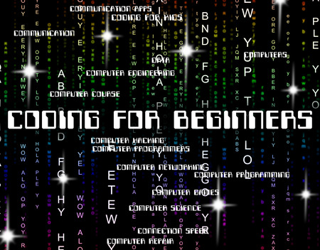 new recruit: Coding For Beginners Indicating New Girl And Newbie
