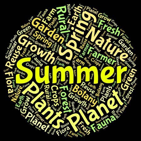 midsummer: Summer Word Indicating Hot Weather And Season