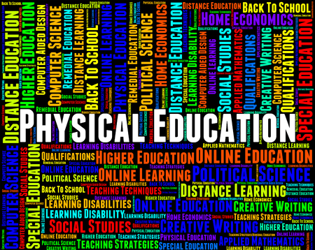 physical education: Physical Education Indicating Text College And Training Stock Photo