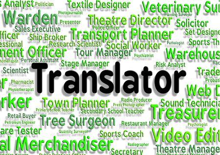 translates: Translator Job Indicating Career Transliterator And Transcribe