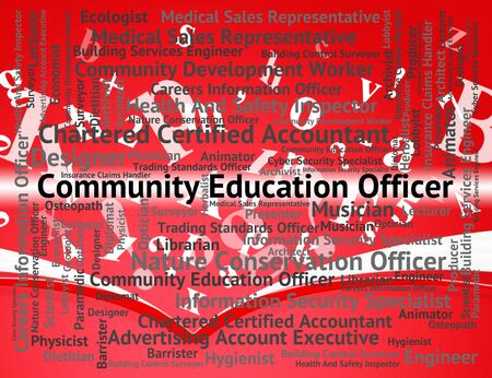 organized group: Community Education Officer Showing Organized Group And United Stock Photo