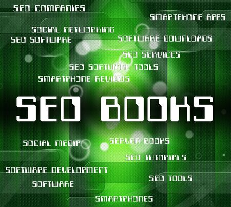 optimized: Seo Books Showing Word Optimized And Website