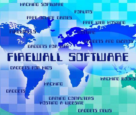 shareware: Firewall Software Indicating No Access And Shareware