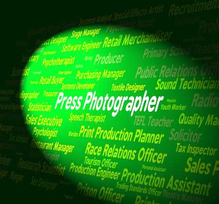 Press Photographer Representing Copy Editor And Hiring