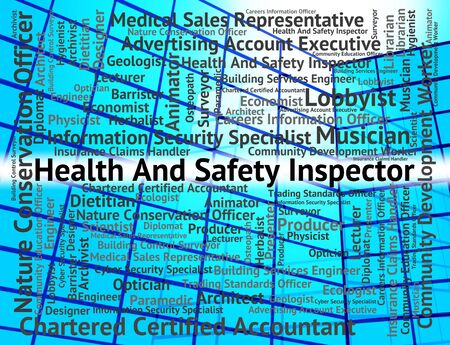 auditor: Job Word Showing Safety First And Auditor