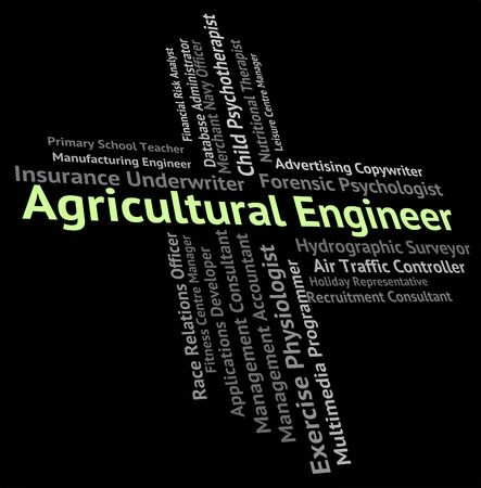 agrarian: Agricultural Engineer Representing Employee Career And Agrarian