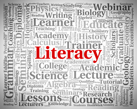 literate: Literacy Word Indicating Schooling Proficiency And Education