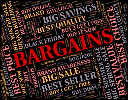 bargains: Bargains Word Indicating Words Sales And Cheap