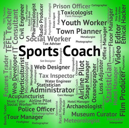 aktywność fizyczna: Trener Sport Pokazuje aktywności fizycznej i pouczając