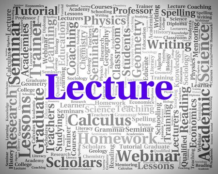 oration: Lecture Word Meaning Discourse Text And Speeches Stock Photo