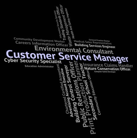 service desk: Customer Service Manager Representing Help Desk And Employee