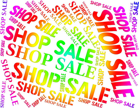 merchandiser: Shop Sale Representing Store Discounts And Commercial