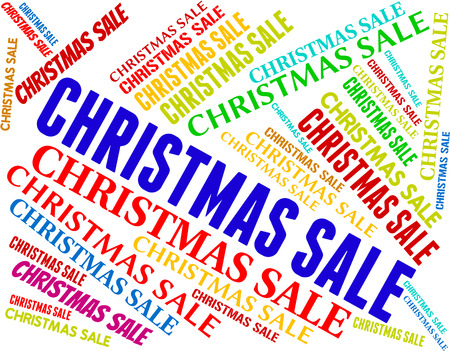 bargains: Christmas Sale Showing Text Bargains And Bargain Stock Photo