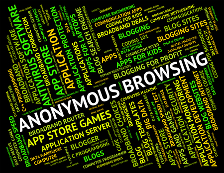 unspecified: Anonymous Browsing Representing Web Browsers And Undesignated Stock Photo