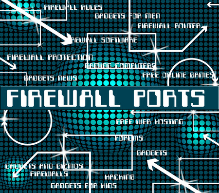 no access: Firewall Ports Meaning No Access And Sockets Stock Photo