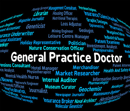 general practice: General Practice Doctor Indicating Medical Person And Professor