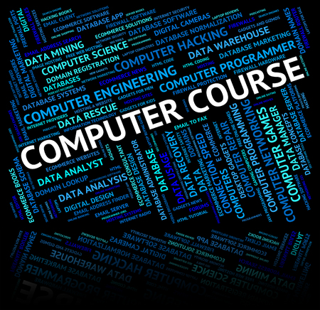 word processors: Computer Course Indicating Technology Processor And Pc
