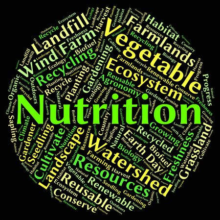 nutriment: Nutrition Word Meaning Text Diets And Nutrient Stock Photo