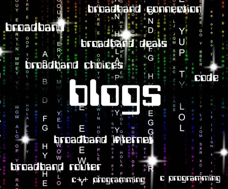 BLOG: Blogs Word Meaning Blogging Site And Weblog Stock Photo