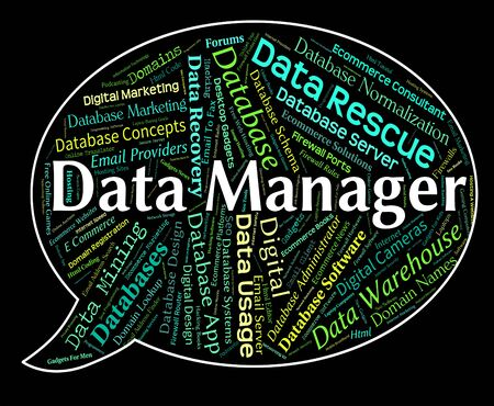 overseer: Data Manager Showing Chief Managing And Proprietor Stock Photo