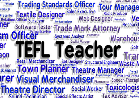 lessons: Tefl Teacher Indicating Give Lessons And Employee