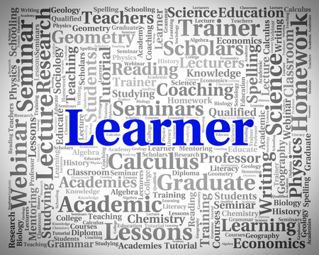 learner: Learner Word Meaning Train University And Learned Stock Photo
