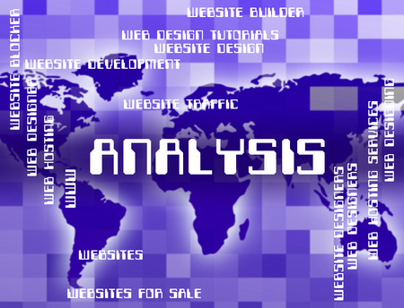 Analysis Word Showing Data Analytics And Research Banco de Imagens