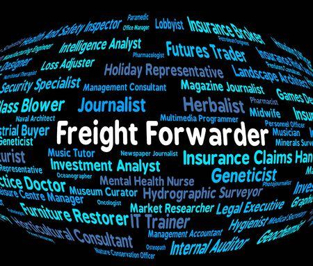 corredor de bolsa: Freight Forwarder Representando Contratación Broker Y Productos
