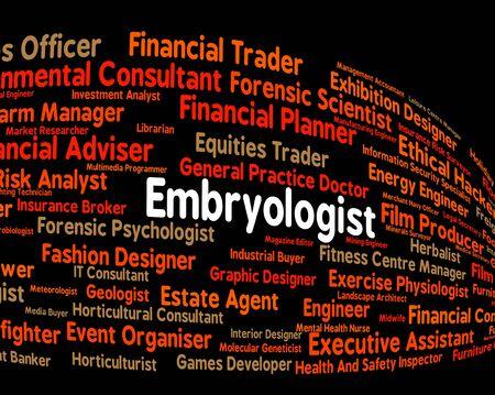 genetica: Lavoro Embryologist Rappresentare i processi di testo e genetica