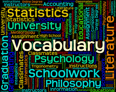 thesaurus: Vocabulary Word Indicating Words Thesaurus And Vocabularies Stock Photo