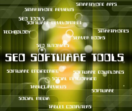 optimizing: Seo Software Tools Showing Engine Optimization And Internet