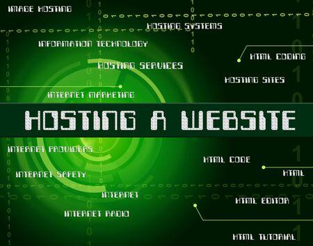 webhosting: Hosting A Website Representing Webhosting Domain And Www