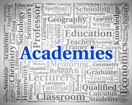 Academies Word Meaning College Polytechnics And Polytechnic Banco de Imagens