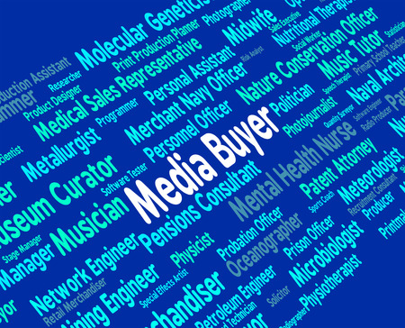 purchasers: Media Buyer Showing Buying Medium And Shopper