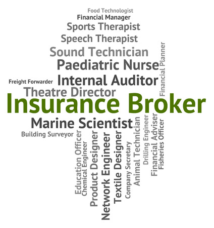 middleman: Insurance Broker Representing Agent Negotiator And Protection Stock Photo