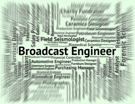 Broadcast Engineer Meaning Work Job And Position Banco de Imagens