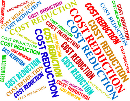 reduced value: Cost Reduction Representing Selling Price And Valuation
