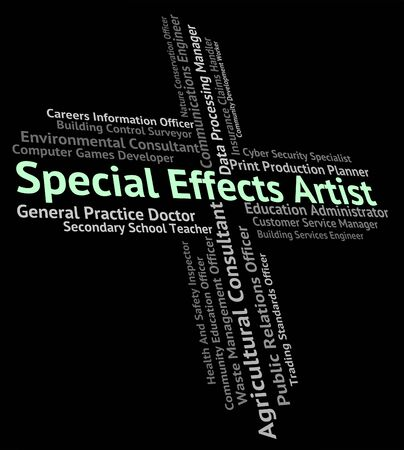 special effects: Special Effects Artist Showing Job Position And Designer